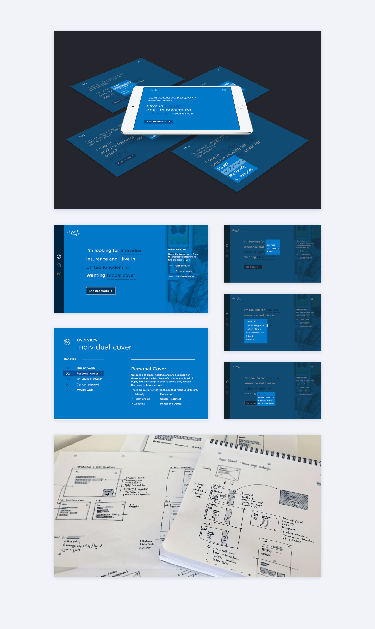 Bupa Quote Funnel Website UI