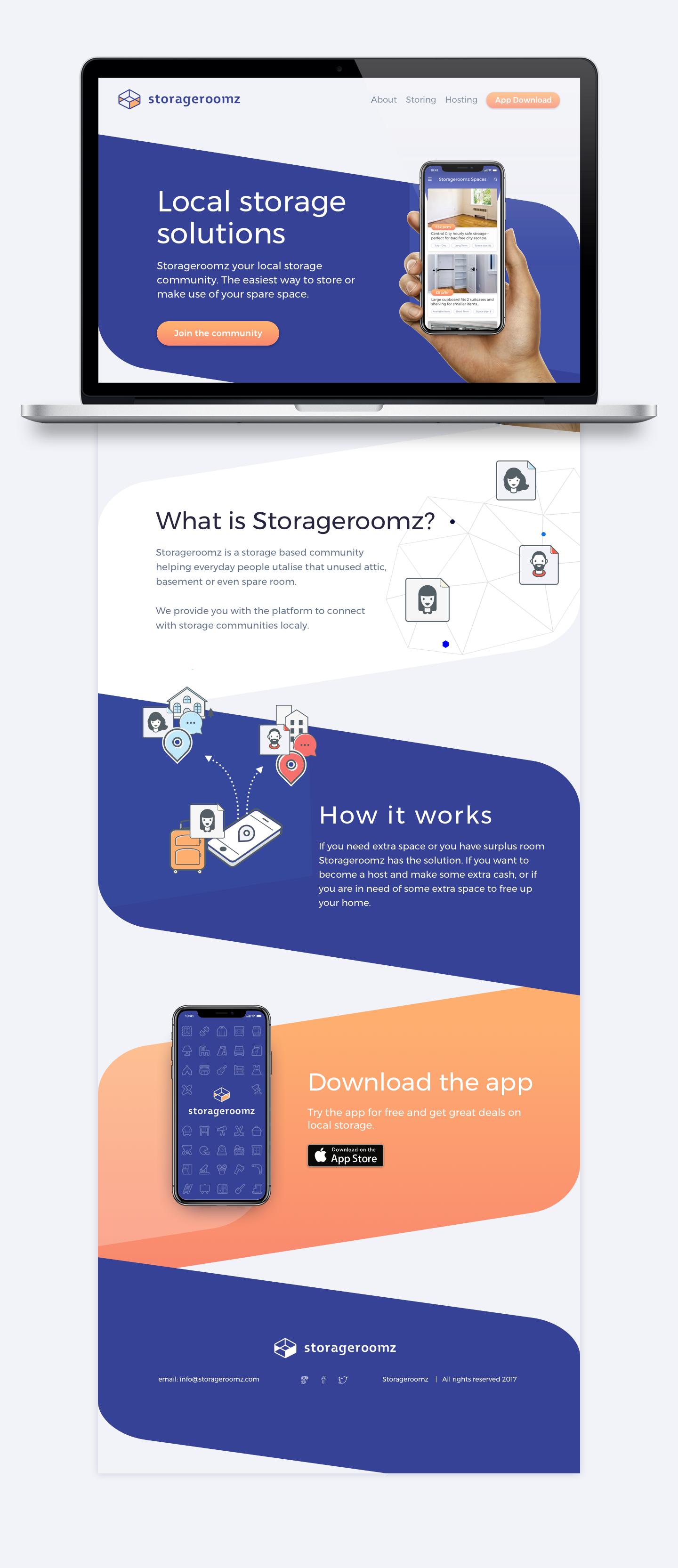 Storageroomz Web Mock up
